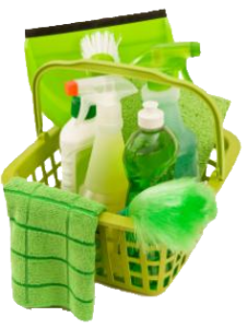 green-home-cleaning-tools